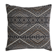 Erata Abstract Aztek Designed Pillow in Gray and Brown (Set of 4)