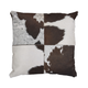 Tegan Hair on Hide Designed Pillow in Black and Dark Brown (Set of 4)