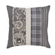 Avinoam Patchwork Design Pillow in Natural and Gray (Set of 4)