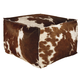 Tegan Pouf in Dark Brown, White and Black A1000300