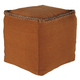 Caius Contemporary Style Pouf in Rust A1000319