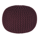 Nils Contemporary Style Pouf in Maroon A1000372
