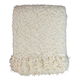 Araminta Chenille Throws in Cream (Set of 3)