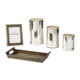 Dexton 5-Piece Accessory Set in Brown and Silver A2C00117