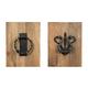 Dezso Door Knocker Design Wall Decor Set (Set of 2)