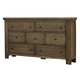Virginia House Collaboration Seven Drawer Dresser in Rusitc Pine 610-002