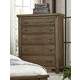 Virginia House Collaboration Five Drawer Chest in Rusitc Pine 610-115