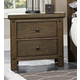 Virginia House Collaboration Two Drawer Nightstand w/ Hidden Drawer in Rusitc Pine 610-227