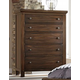 Virginia House Collaboration Five Drawer Chest in Rusitc Cherry 612-115
