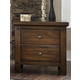 Virginia House Collaboration Two Drawer Nightstand w/ Hidden Drawer in Rusitc Cherry 612-227