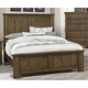 Virginia House Collaboration King Panel Bed in Rusitc Pine