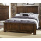 Virginia House Collaboration King Panel Bed in Rusitc Cherry
