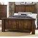 Virginia House Collaboration King Poster Bed in Rusitc Cherry