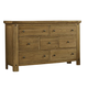 Virginia House Collaboration Seven Drawer Dresser in Casual Oak 614-002