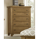 Virginia House Collaboration Five Drawer Chest in Casual Oak 614-115