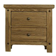Virginia House Collaboration Two Drawer Nightstand in Casual Oak 614-226
