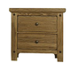 Virginia House Collaboration Two Drawer Nightstand w/ Hidden Drawer in Casual Oak 614-227