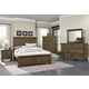 Virginia House Collaboration 4 Piece Panel Bedroom Set in Rustic Pine