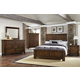 Virginia House Collaboration 4 Piece Panel Bedroom Set in Rustic Cherry