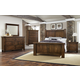 Virginia House Collaboration 4 Piece Poster Bedroom Set in Rustic Cherry