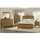 Virginia House Collaboration 4 Piece Panel Bedroom Set in Casual Oak