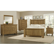 Virginia House Collaboration 4 Piece Poster Bedroom Set in Casual Oak