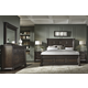 Samuel Lawrence Grand Manor 4pc Panel Bedroom Set in Rich Tobacco