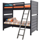 Samuel Lawrence Graphite Twin Over Twin Bunk Bed in Graphite 8942-TT