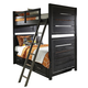 Samuel Lawrence Graphite Twin Over Twin Bunk Bed with Storage in Graphite 8942-TTS