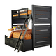 Samuel Lawrence Graphite Twin Over Full Bunk Bed with Storage in Graphite 8942-TFS