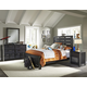 Samuel Lawrence Graphite 4pc Youth Bedroom Set in Graphite
