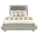 Samuel Lawrence Celestial King Upholstered Panel Bed in Silver 8960-K
