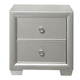 Samuel Lawrence Celestial 2 Drawer Nightstand in Silver 8960-050