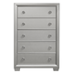 Samuel Lawrence Celestial 5 Drawer Chest in Silver 8960-040