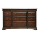 Universal Furniture Reprise 12 Drawer Dresser in Classical Cherry 581040