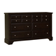 Virginia House Bedford Six Drawer Dresser in Merlot BB88-002
