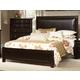 Virginia House Bedford Queen Upholstered Bed in Merlot