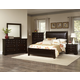 Virginia House Bedford 4 Piece Upholstered Bedroom Set in Merlot