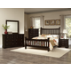Virginia House Bedford 4 Piece Poster Bedroom Set in Merlot