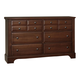 Virginia House Bedford Six Drawer Dresser in Cherry BB89-002