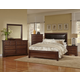 Virginia House Bedford 4 Piece Upholstered Bedroom Set in Cherry
