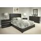 Durham Furniture Cascata 4-Piece Panel Bedroom Set in Molten Night