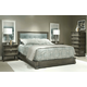 Durham Furniture Cascata 4-Piece Upholstered Bedroom Set in Coastal Fog