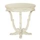 Bernhardt Auberge Round End Table in Vintage White 351-125