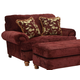 Jackson Belmont Chair and a Half in Claret 4347-01