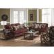 Jackson Belmont Living Room Set in Claret