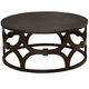 Armen Living Tuxedo Round Coffee Table LCTUCO