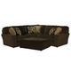 Jackson Furniture Everest 3pc Sectional Living Room Set in Chocolate