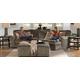 Jackson Furniture Everest 3pc Modular Sectional Living Room Set in Seal