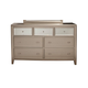 Alpine Furniture Silver Dreams 7 Drawer Dresser in Silver 1519-03